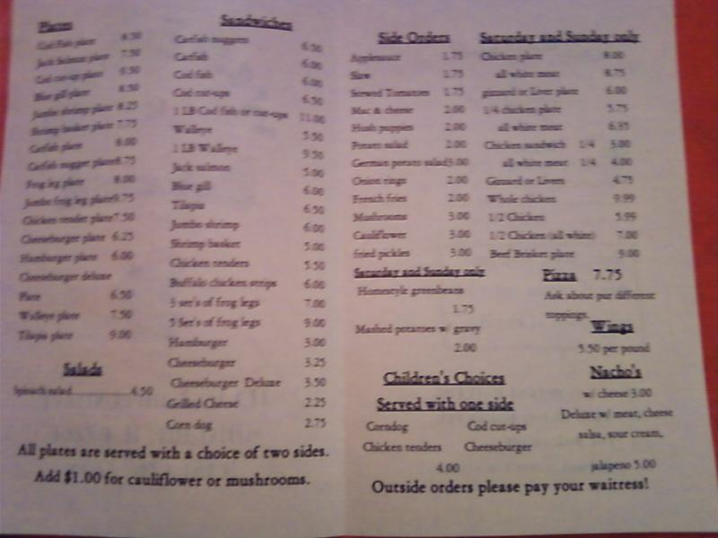 the menu in detail