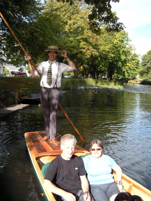 Punting on the River Avon Christchurch