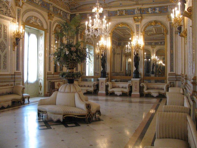 Inside the mansion.