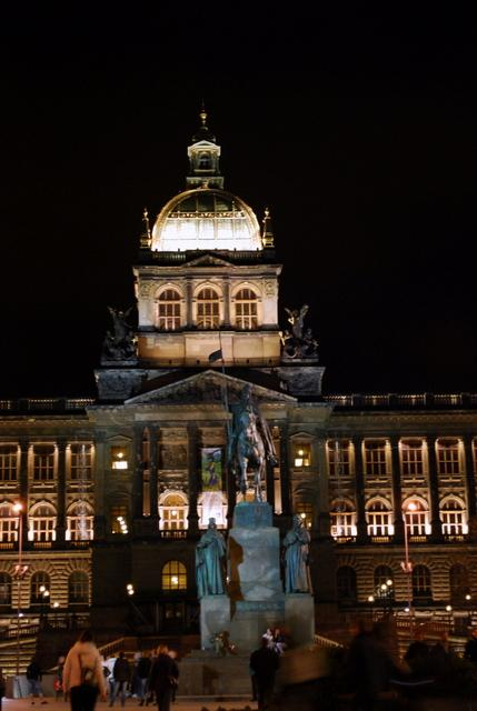National Museum with St Wenceslas statue
