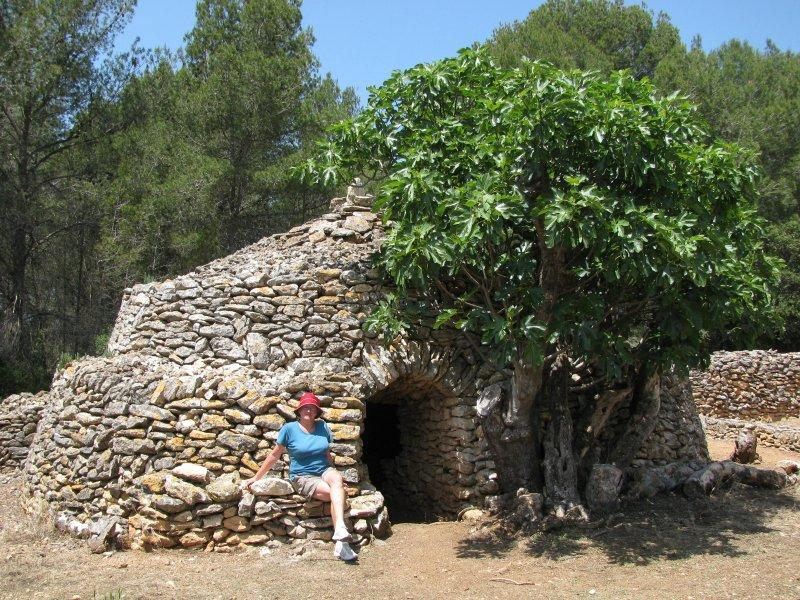 Stone hut village.