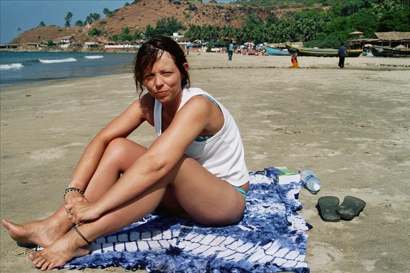 julie  on arambol beach