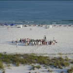 a wedding on the beach near Gulf Shores, Alabama
