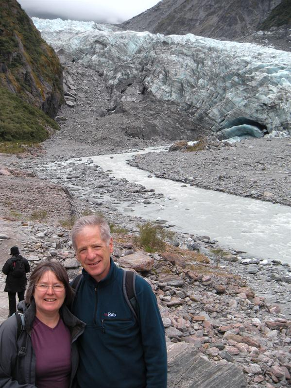 In front of the Fox Glacier