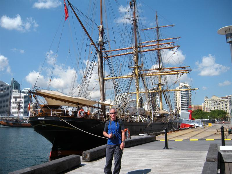 A tall ship at the Maritime Museum