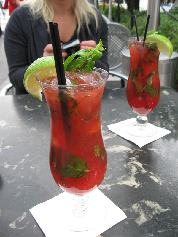 ...strawberry mojitos...