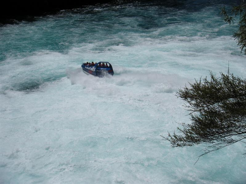 The jet boat at the Huka Falls