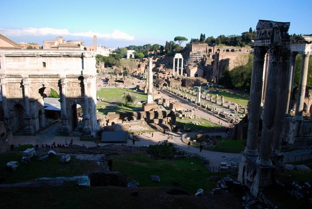 You have a great view over the Forum