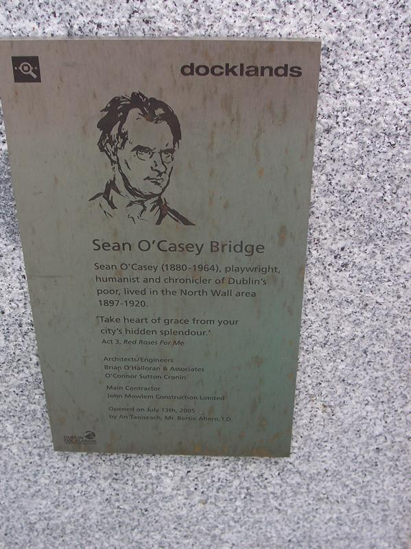 Sean O'Casey Bridge over the River Liffey.