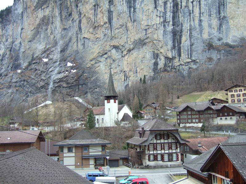 View from Hotel Staubach, Lauterbrunnen