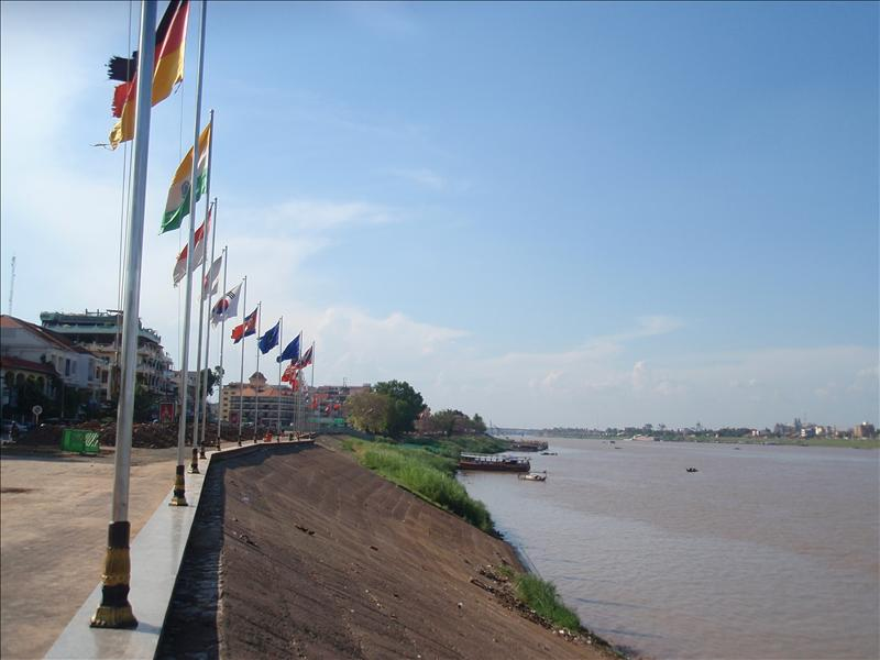 By the side of the Mekong in Phnom Penh