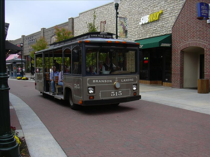 a trolley ride in Branson, Missouri