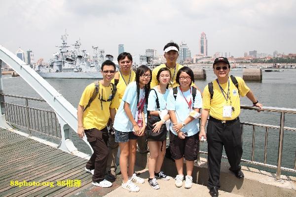 與4位導師合照 左起: Stephen, Jimmy, Eric, John@ 海軍博物館