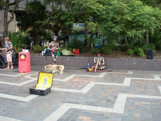 ABORIGINES ENTERTAINING ON THE QUAY