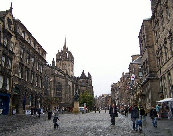 EDINBURGH - ST GILES CATHEDRAL FROM LAWNMARKET, SEPT 2008