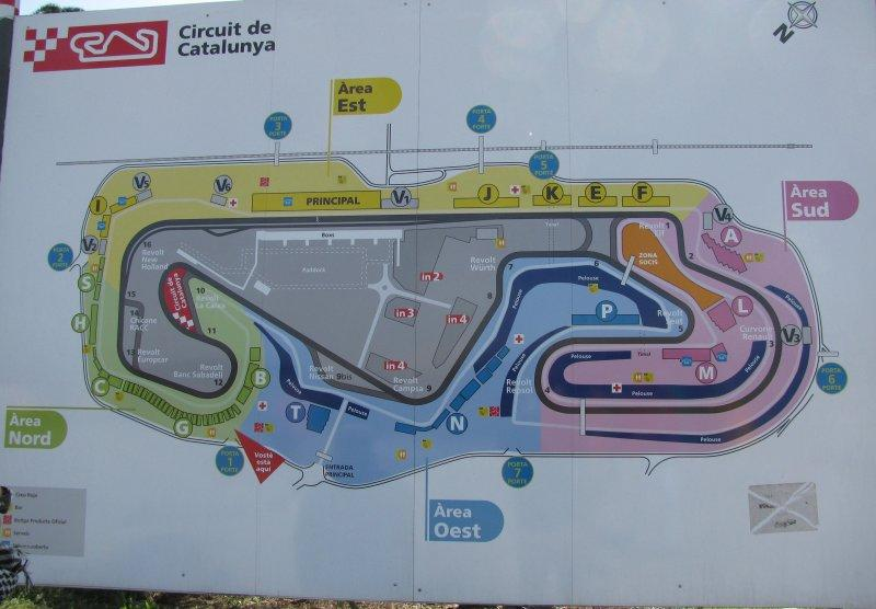 .. at the Circuit de Catalunya near Barcelona.