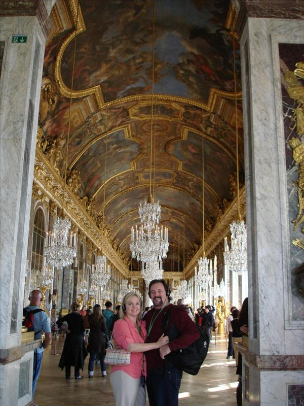 Dan & Jen at the Hall of Mirrors