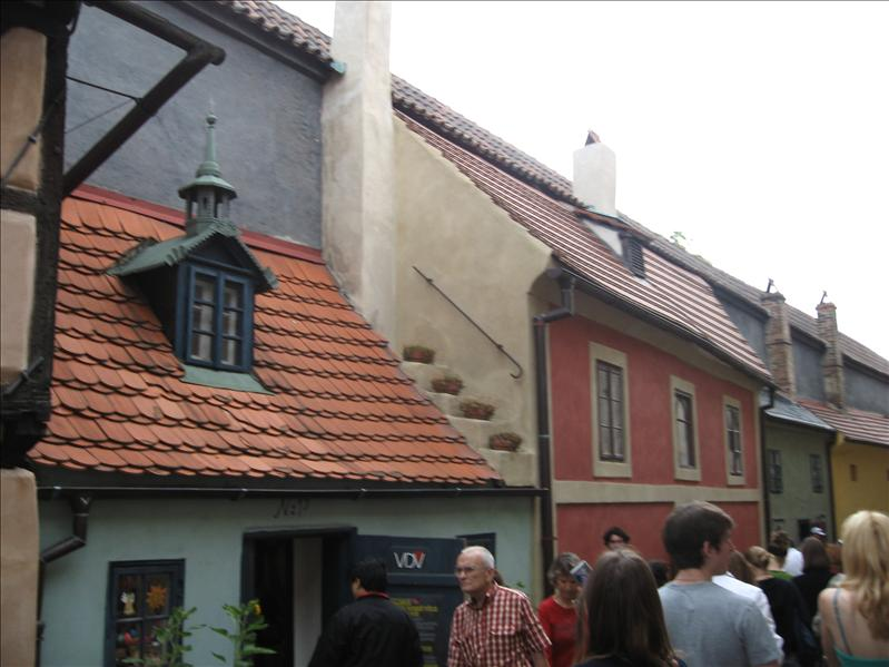 Tiny shops and homes in Prague