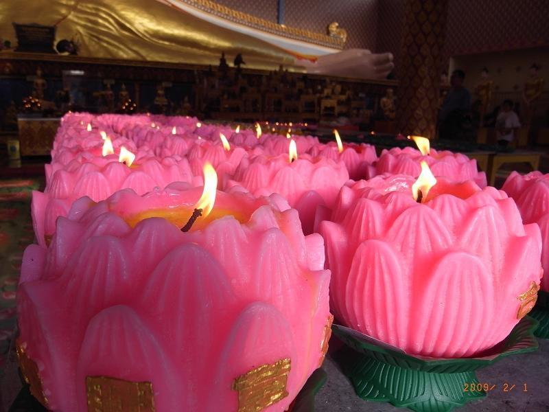 蓮花蠟燭們