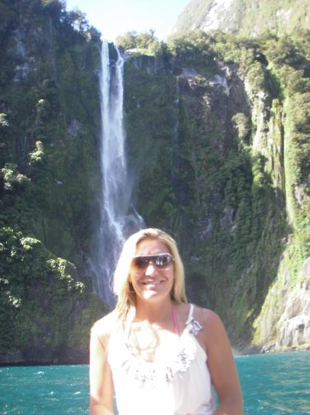 Milford Sound cruise - raindrops are falling on my head....:)