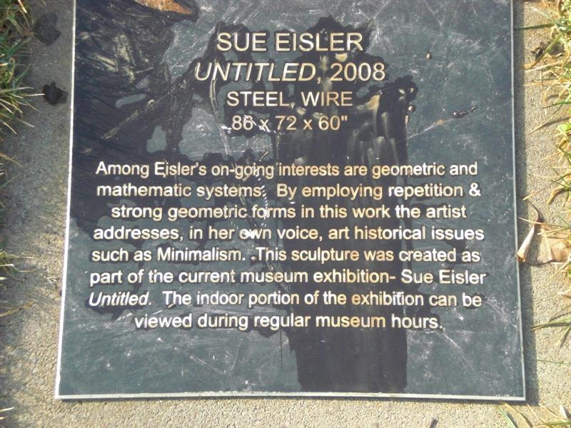 """""""Untitled"""" plaque"""