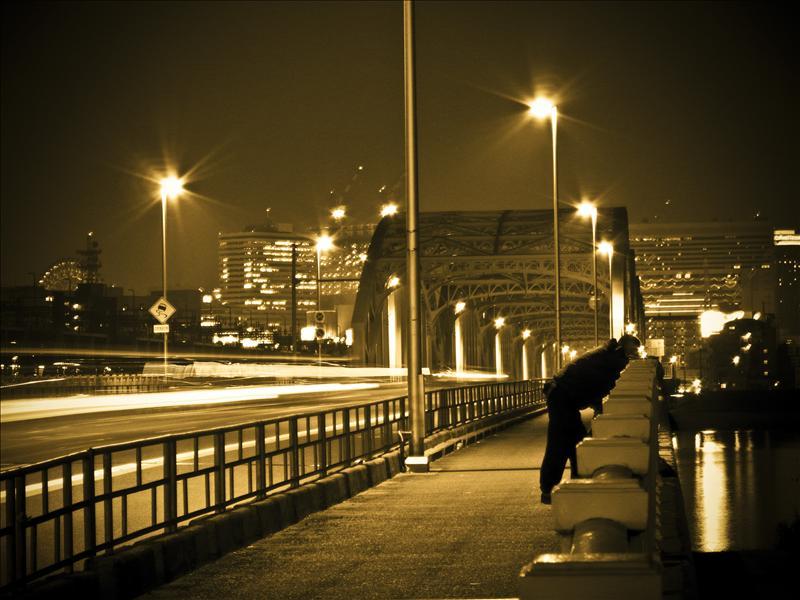 Silhouette in the dark!