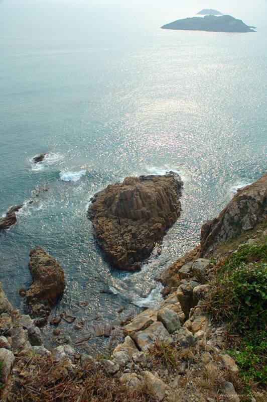 俯瞰崖下的小破邊洲