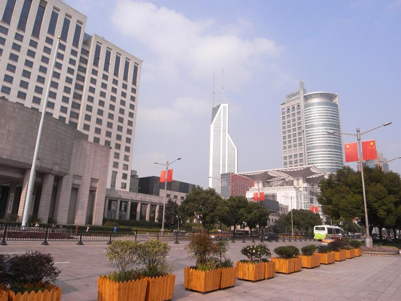 on the People's Square in the Huangpu District of shanghai