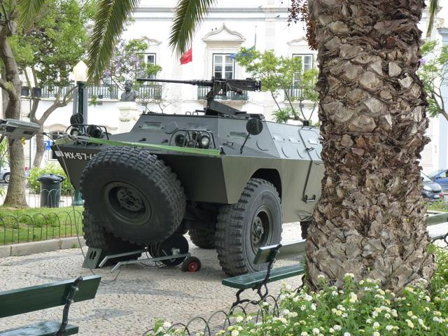 military display in Faro