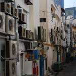 Very hot - it takes many air con units to keep this street cool