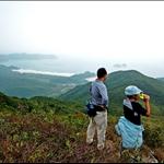 左邊的東灣山及右邊的睇魚岩頂