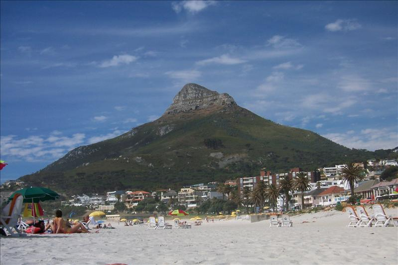 Lion's Head at Camps Bay beach