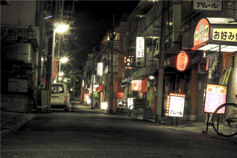 Night Street in Kobe