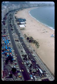 Vista de la playa desde hotel