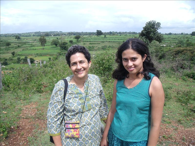 Gargi's mum and Gargi.