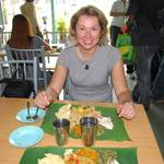 My first Indian meal on a banana leaf...yummy