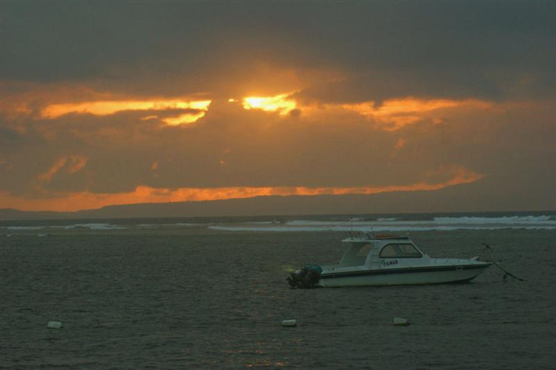 Sunrise on Tanjung Benoa Beach.