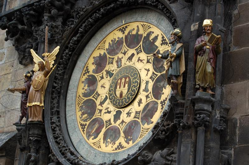 Astronomical Clock: Detail - Prague