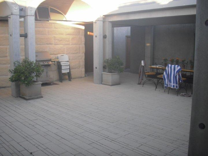The BBQ area