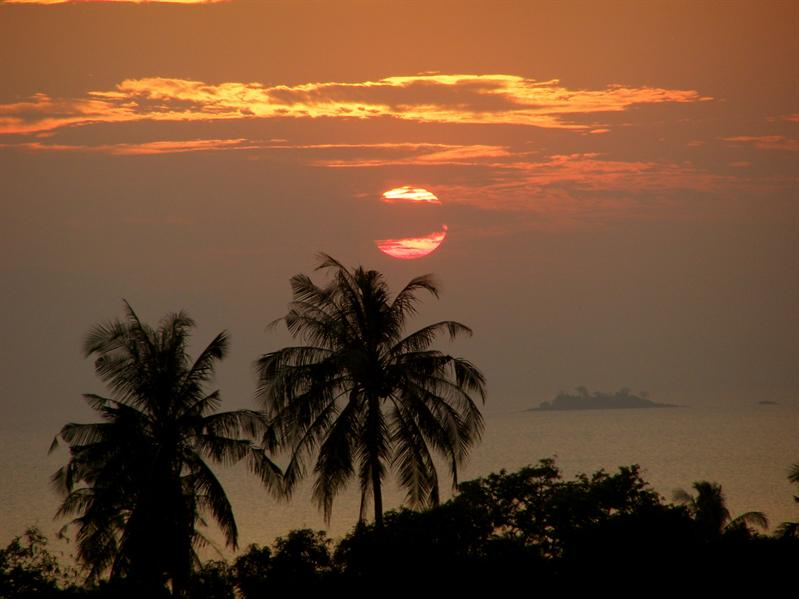 Sunset in Kep