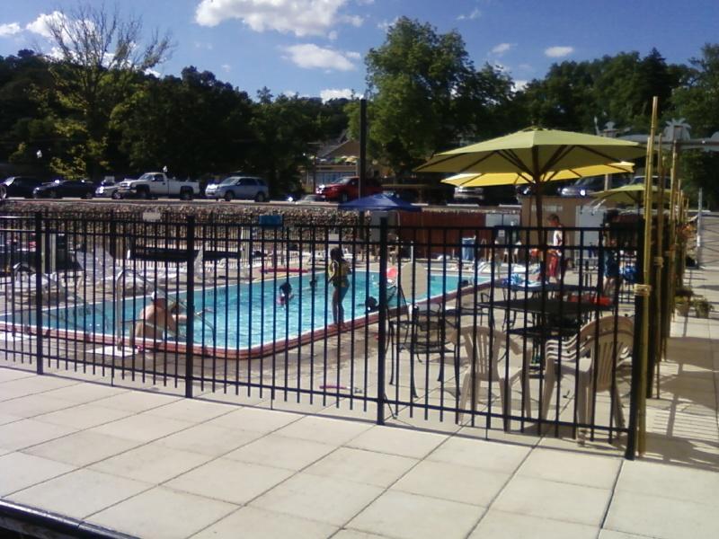 the marina has a small pool