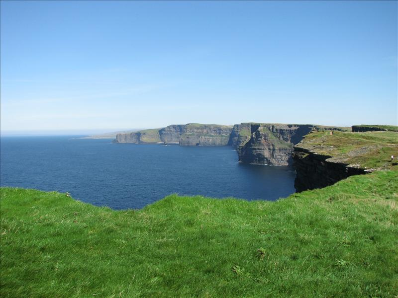 Looking back at the 8kms of the Cliffs of Moher