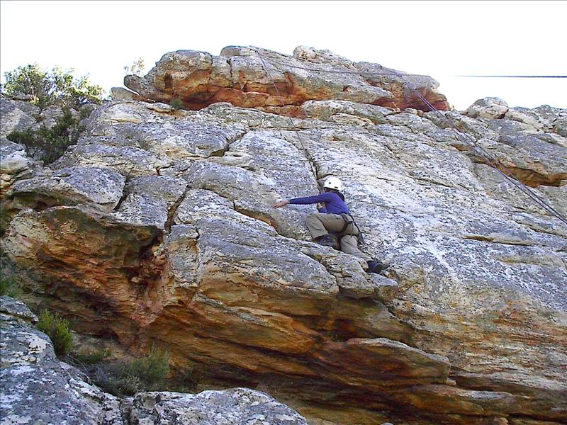 Me, rock climbing to the top!