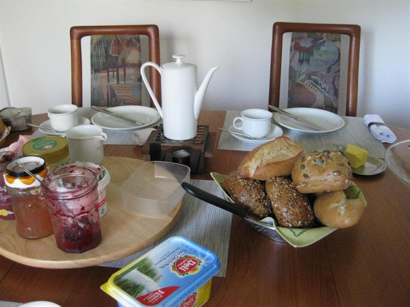 breakfast at Inge and Eckhart's