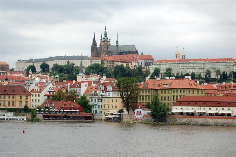 Castle Prague from Charles Bridge