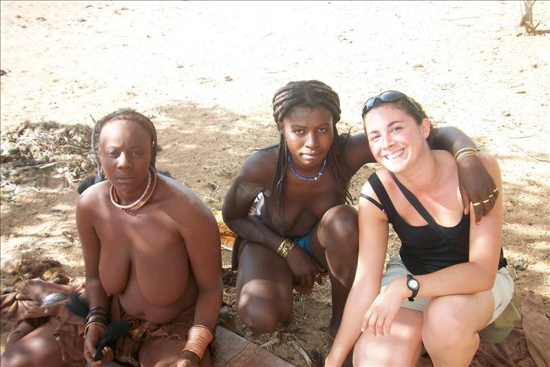 With Himba Woman
