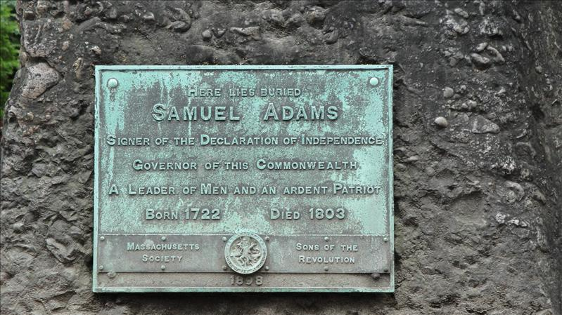 Burial place of Sam Adams
