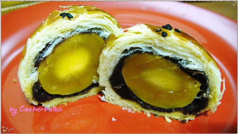 烏豆沙蛋黃酥斷面