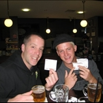 Our winning tickets from betting on the greyhound races!