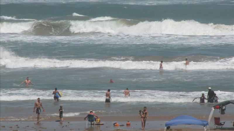 Beach on Wednesday, much higher from Hurricane